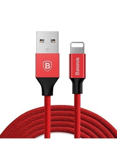 Baseus Yiven Lightning Kablo 1.8M - Kırmızı Renkli